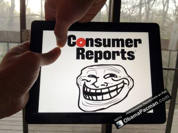 Consumer Reports iPad 3 Hot Warmgate