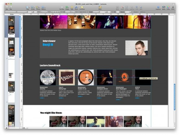 Design website with Mac Keynote app