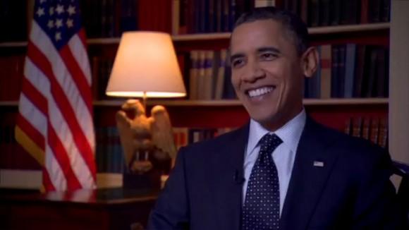 President Obama smile