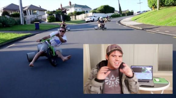 Tricycle Drifting Devin Graham Mac