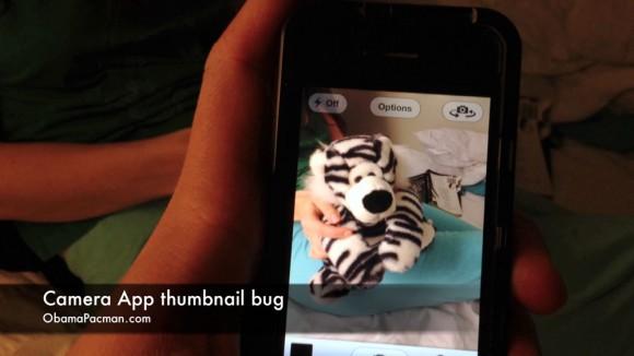 iOS camera app thumbnail bug