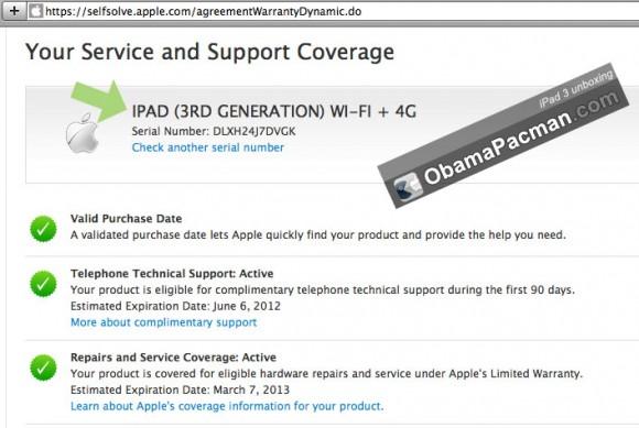 iPad 3 warranty