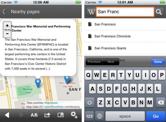 Wikipedia Mobile App OpenStreetMap