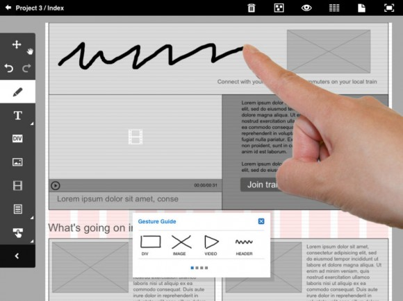 Adobe Proto iPad Wireframe Tool