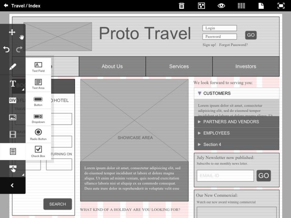 adobe proto ipad wireframing tool - Ipad App Wireframe