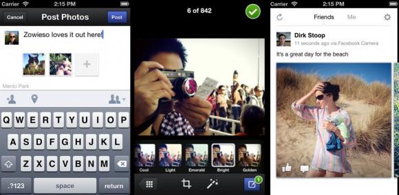 Facebook camera iOS app