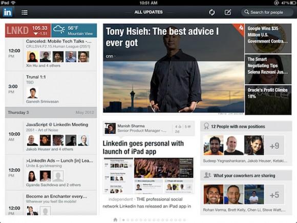 LinkedIn iPad App HTML5 infinite scrolling