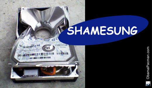 Samsung Shamesung destroy evidence
