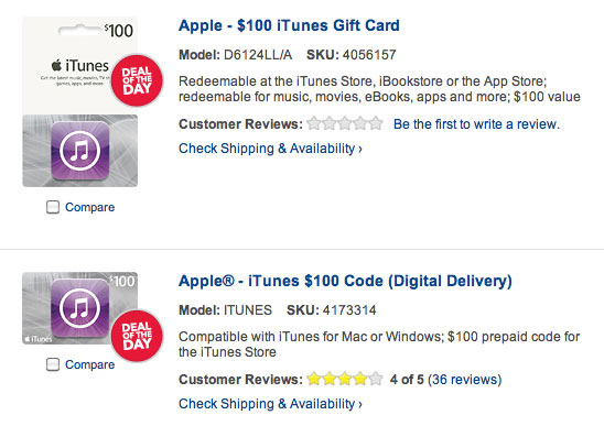 iTunes Gift Card code Best Buy