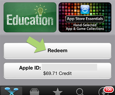How to - redeem iTunes giftcard, check App Store credit