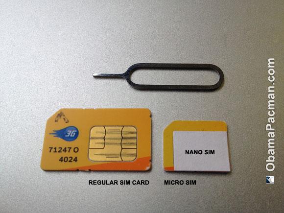Apple Nano SIM vs SIM, micro SIM