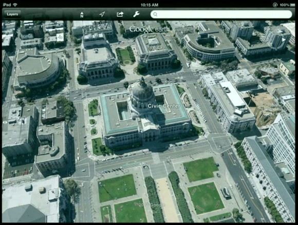 Google Earth 3D Maps iPad demo