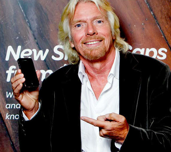 Richard Branson iPhone