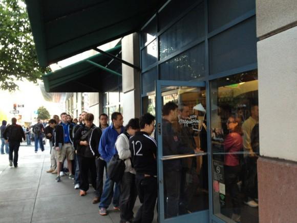 WWDC 2012 line Starbucks