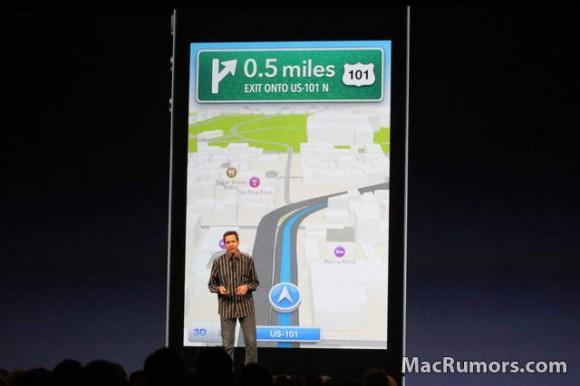 iOS 6 turn by turn navigation