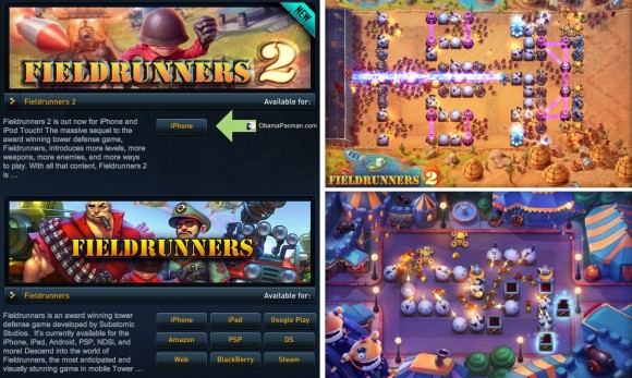 Fieldrunners 2 iPhone iPod touch Android