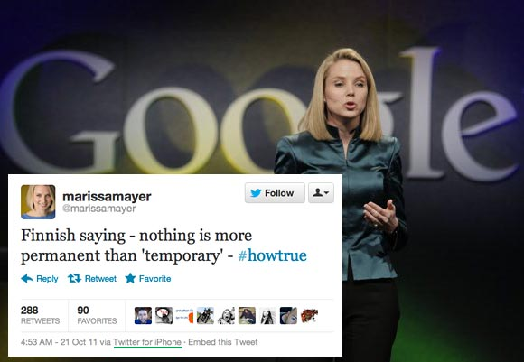 Google VP Marissa Mayer iPhone