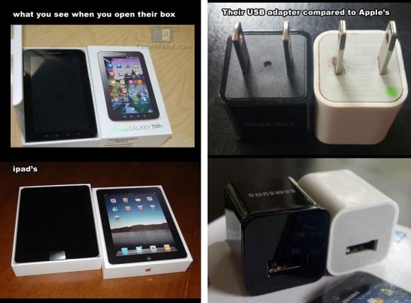 Samsung tablet copied Apple iPad