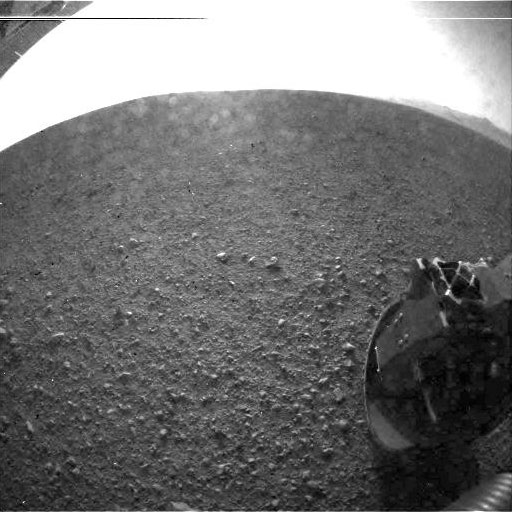 Curiosity Rover first Mars photo - high resolution