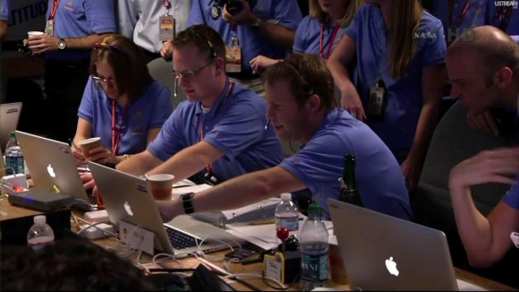 NASA Curiosity Rover mission control Macs