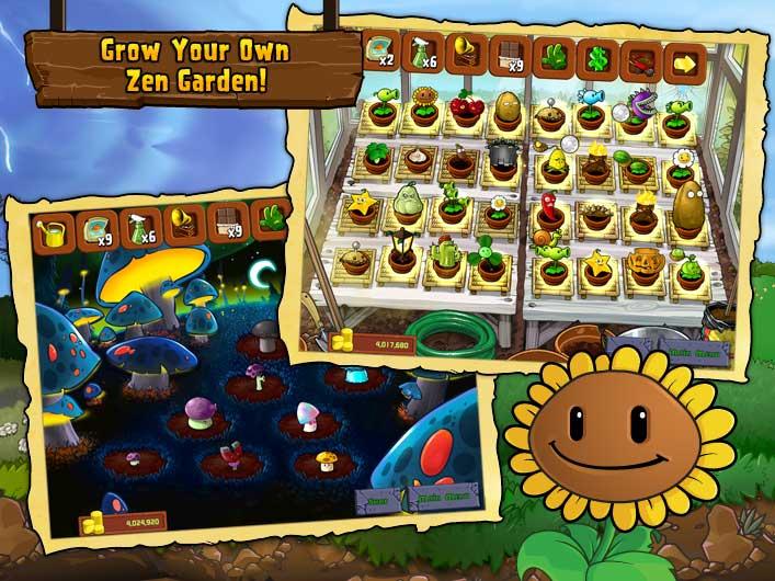 Plant vs zombies ipad iphone zen garden obama pacman for Jardin zen plantas vs zombies