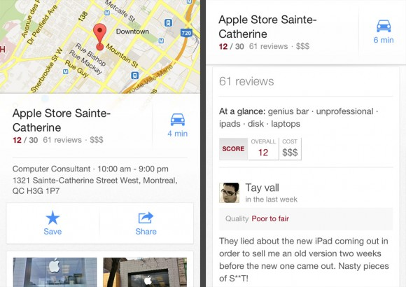 Google Maps Apple Store Sainte-Catherine review Taymaz Valley