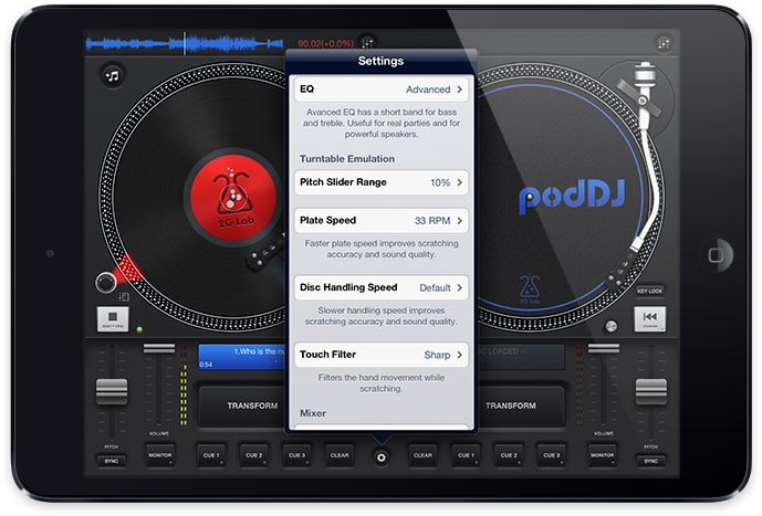 podDJ iPad virtual DJ mixer | Obama Pacman