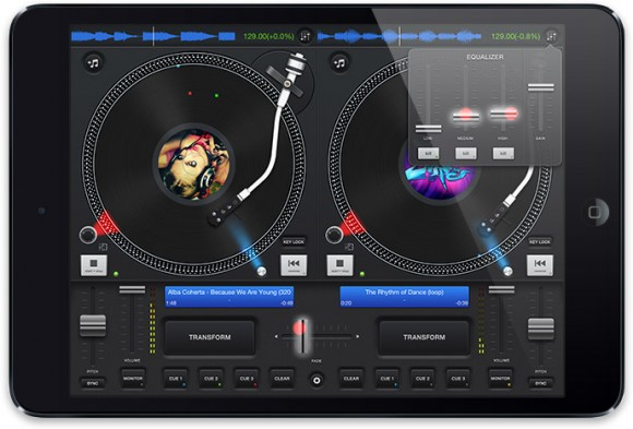 podDJ iPad virtual DJ turntable app