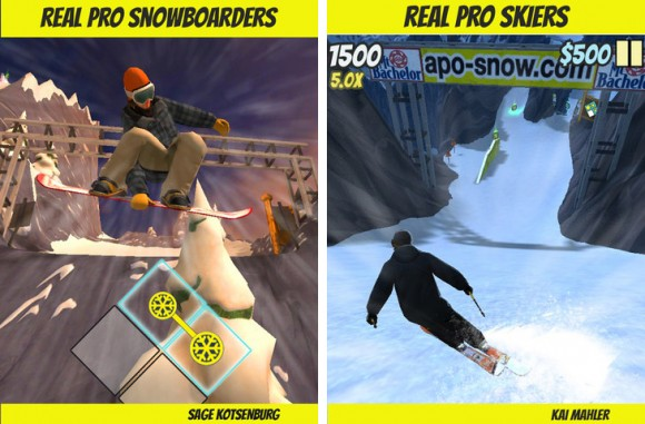 APO Snow iPhone iPad freestyle snowboard ski game