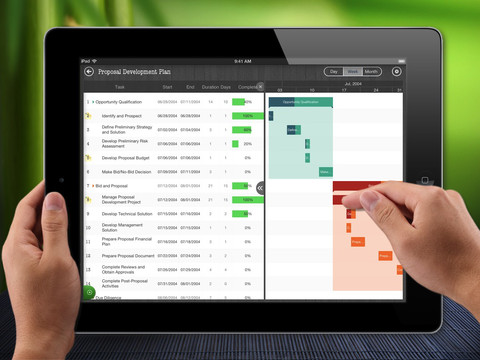 QuickPlan iPad Gantt Chart