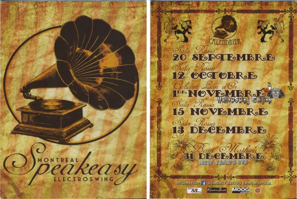 Speakeasy Electro Swing 2013 schedule