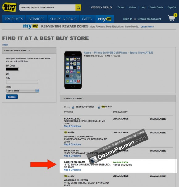 SUCCESS Best Buy iPhone 5s inventory tracker