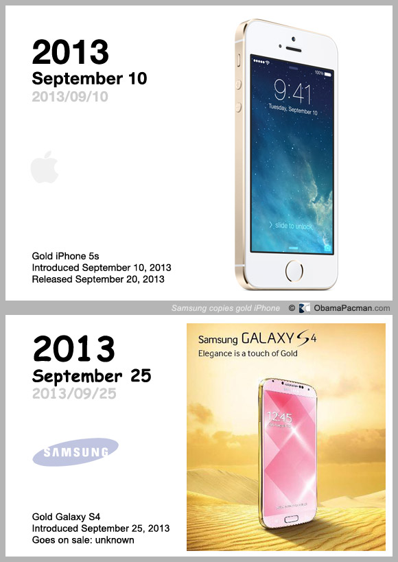 Samsung copied gold iPhone