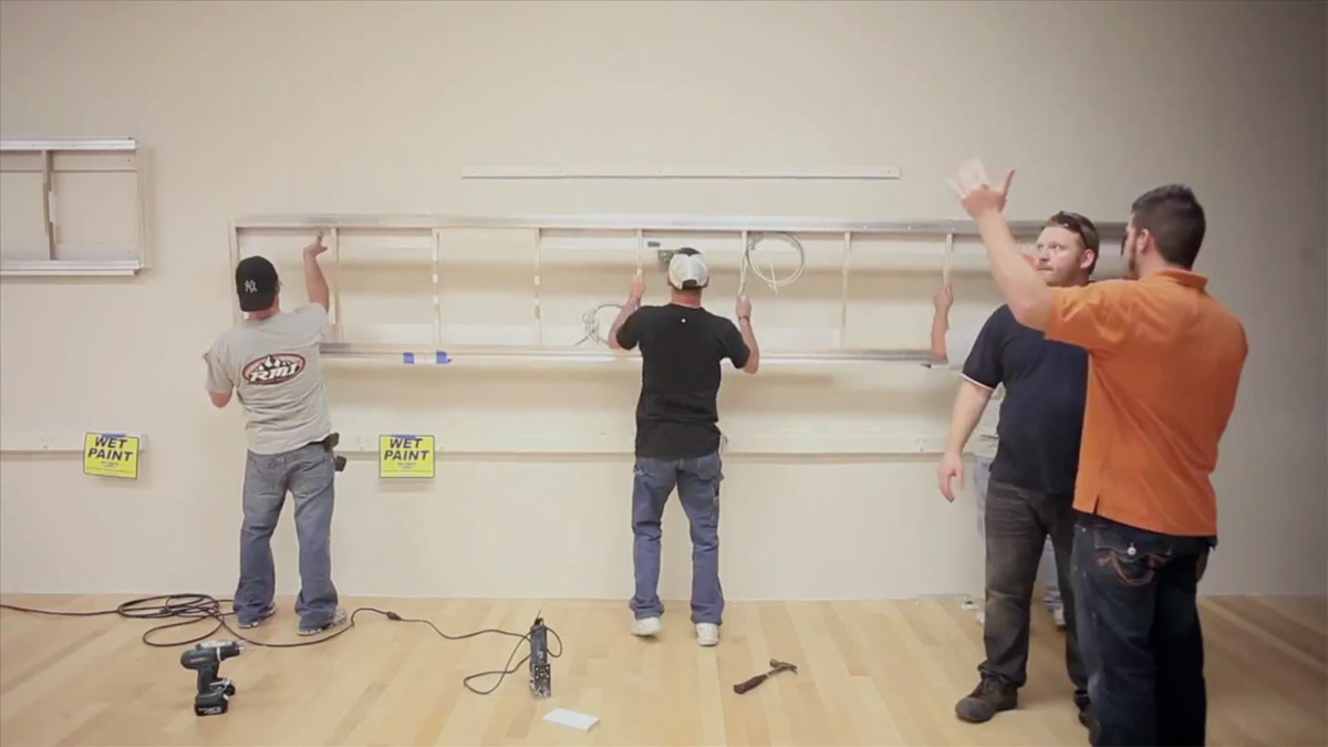 Wall light installation, Apple Store SXSW   Obama Pacman