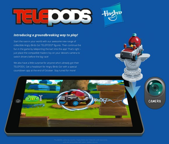 how to use angry birds go telepods