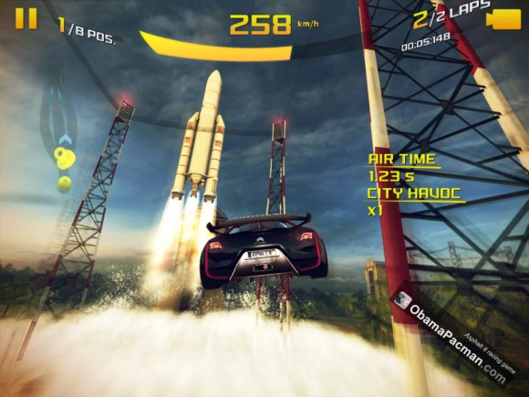 Asphalt 8 Airborne racing game