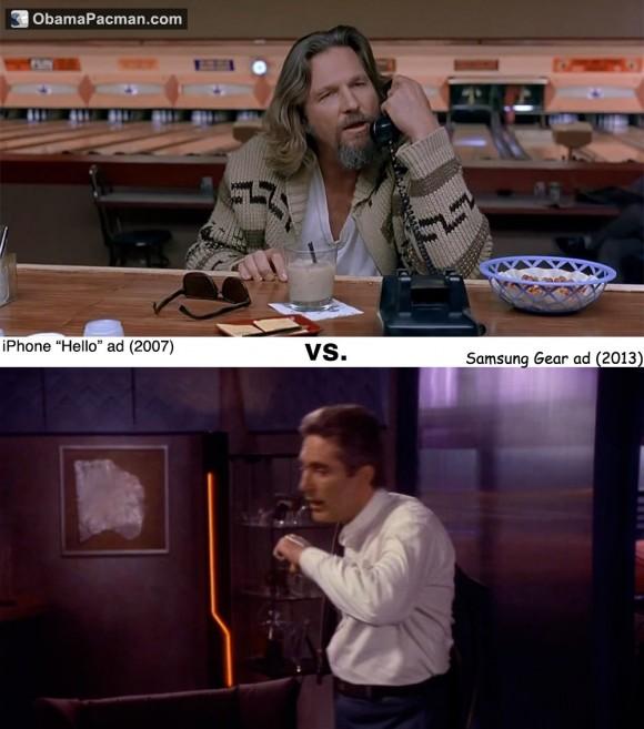 Original Apple iPhone TV ad vs Samsung Gear ad