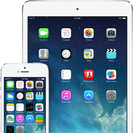 iPad mini iPhone 5s with iOS 7