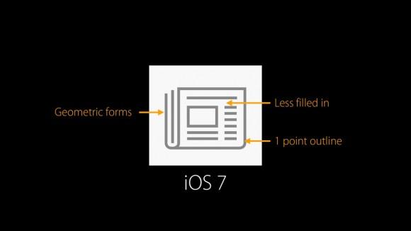 iOS 7 icon design