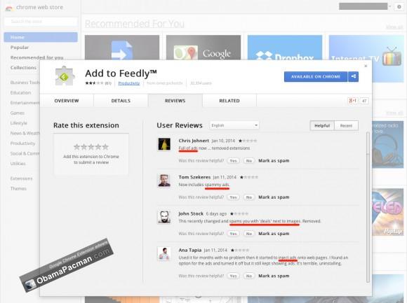 Google Chrome Extension adware
