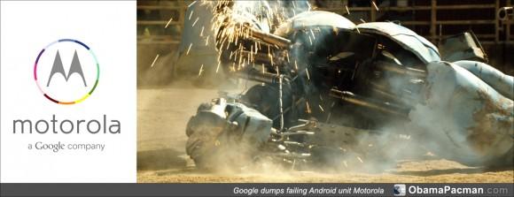 Trashed Android robot, Google unit Motorola