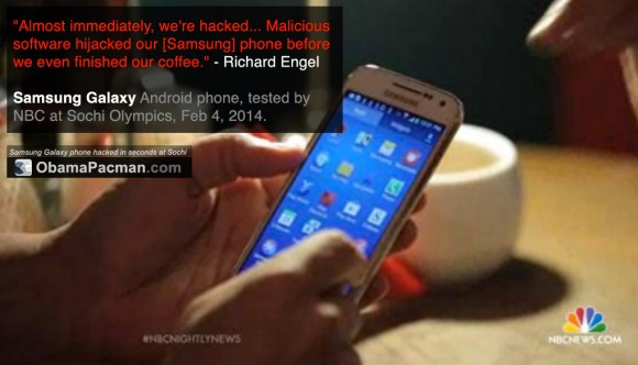 Samsung Galaxy Android phone hacked at Sochi Olympics